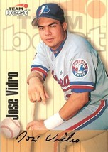 1998 team best autograph jose vidro expos baseball card - $4.99