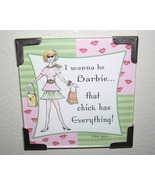Linda Grayson Be Barbie gift magnet new - $4.00