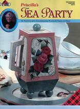 Plaid Book Priscilla's Tea Party Learn to Paint Teapots - $6.35