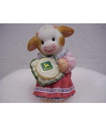 Stitched with Love John Deere Girl Enesco Mary's Moo Moos - $12.19