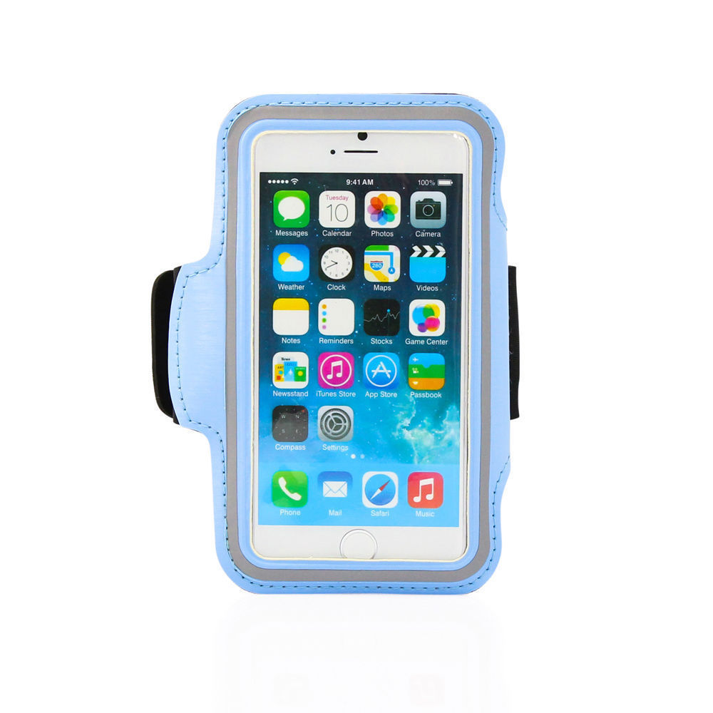 Sports Running Workout Gym Armband Arm Band Case Cover iPhone 6 6S Light Blue