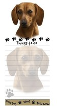 DACHSHUND RED DOG DIECUT LIST PAD NOTES NOTEPAD Magnetic Magnet Refriger... - $6.99