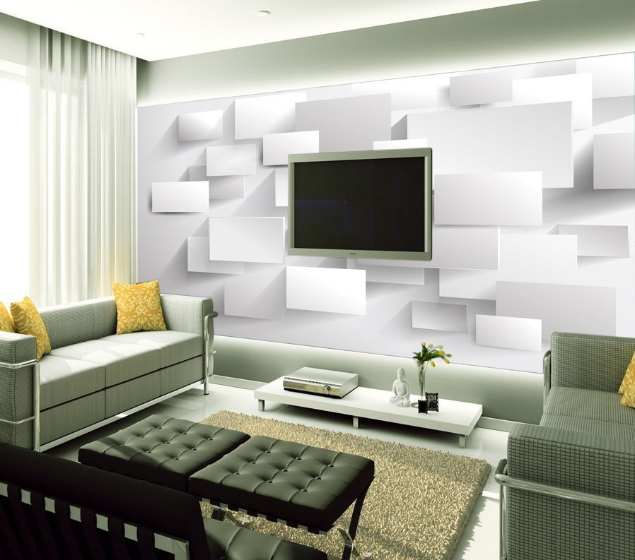 hot 3d three dimensional stylish white squares background. Black Bedroom Furniture Sets. Home Design Ideas