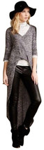 Anthropologie Veronica Space-Dyed Sweater Medium 6 8 Oversized Slate High Low - $55.30