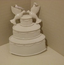 Kissing Love Doves Wedding Cake Ornament by Personalized By Santa - $12.98