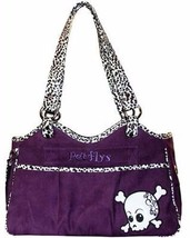 PetFlys Bone Ami Purple Skully Pet Dog Carrier Airline Approved Travel T... - $136.50