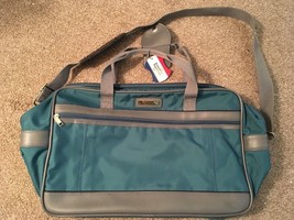 "Vintage 18"" Blue American Tourister Carry On Duffle Bag W/ Shoulder Strap - $24.99"
