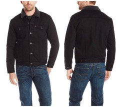 Levi's Mens Regular Fit Faux-shearling Basic Sherpa Trucker Jacket Coat ... - $130.00