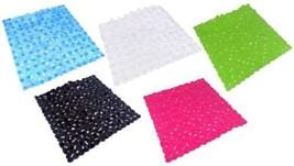 """BRIGHT PVC DURABLE EASY CLEAN NON SLIP SHOWER MAT 51X 53CM 21X22"""" 5 COLOURS - $16.91 CAD"""