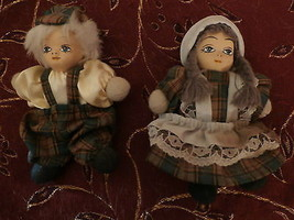 Vintage Porcelain Face Brother And Sister Doll Pair - $25.00