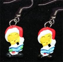 TWEETY BIRD EARRINGS-SANTA CHOIR BOOK-Funky Novelty Christmas Costume Je... - $5.97