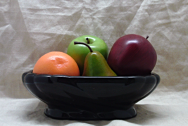 Vintage Mid Century Glossy Black Planter // Candy Dish // Fruit Dish  - $13.26 CAD