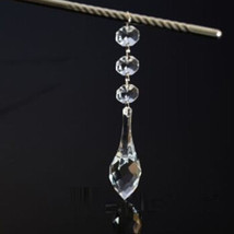 30pcs Acrylic Crystal Clear Hanging Chandelier Prism Beaded Strand Wedding Decor - $16.83