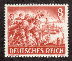 1943 WWII Engineer Corps Germany Postage Stamp Catalog Number B222 MNH