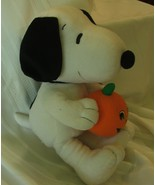 """Peaniuts Snoopy Plush Toy with Pumpkin 14"""" by HHK - $34.95"""