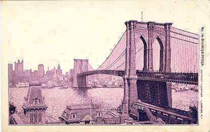 Primary image for The Brooklyn Bridge New York City1906 Vintage Post Card