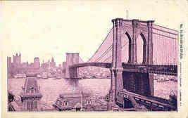 The Brooklyn Bridge New York City1906 Vintage Post Card - $7.00