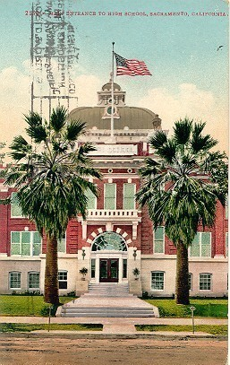 Primary image for The High School Sacremento California 1913 Post Card