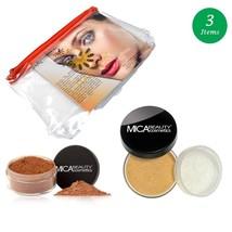 MicaBeauty Full Size Foundation MF6 Cream Caramel+Mineral Blush Powder+Bag - $59.99