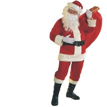 Christmas - Santa Claus Suit - Velour - Size Standard - Adult St. Nick C... - $47.91