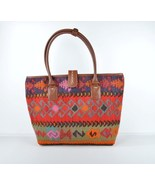 kilim bag rug bag leather bag tote Leather Briefcase ladies purse  Shoul... - $240.00