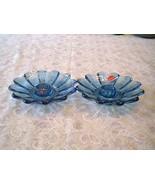 Fostoria Blue Candleholders Pair - $8.91