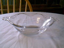 Fostoria Crystal Coronet 2 Handle Serving Bowl - $9.90