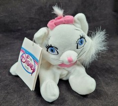 """Disney Store Marie The Aristocats Bean Bag Plush Toy 7"""" New - $11.99"""