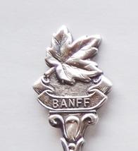 Collector Souvenir Spoon Canada Alberta Banff Maple Leaf Emblem Repousse... - $4.98
