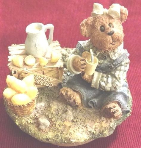 "Boyds Candle Topper ""Lucy.. Bearly Squeezed""- #651225 - Resin~ New- Retired"