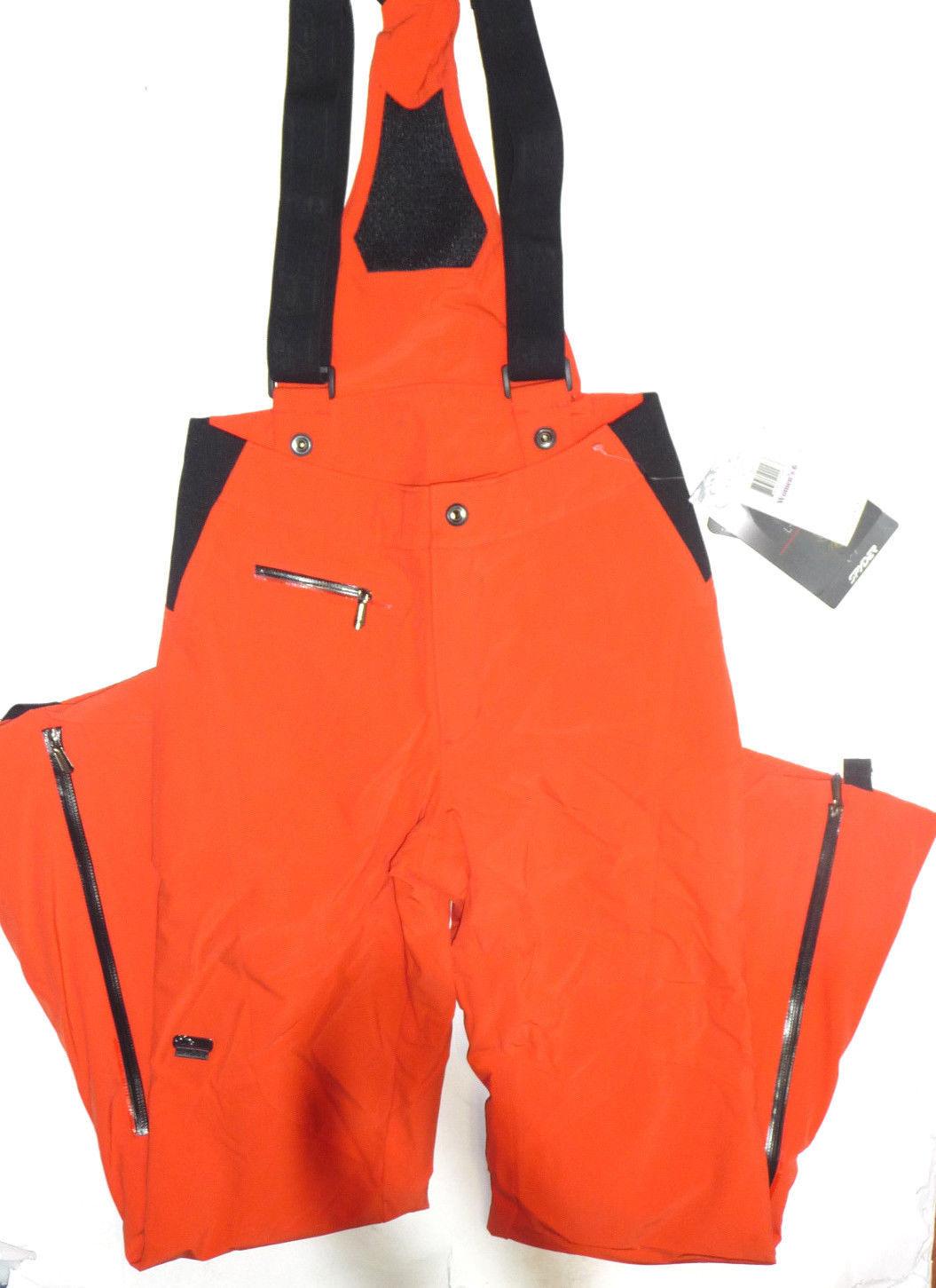 Spyder Ruby Pants Womens Ski Snowboard 20k Waterproof Insulated Orange 6 $400