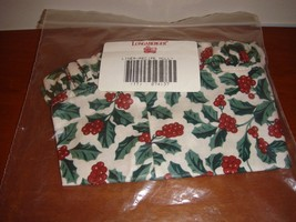 Longaberger Recipe Traditional Holly Liner - $15.99