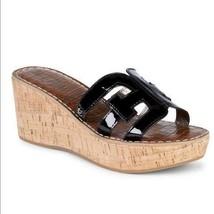 SAM EDELMAN Regis Style Slide Wedge Platform Sandals Patent Cork Women's... - $29.69