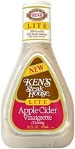 Ken's Steak House Lite Apple Cider Vinaigrette Salad Dressing 16oz Bottle Pack o