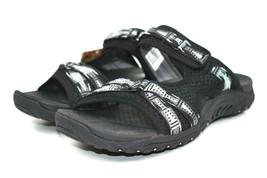 Skechers Women's Reggae Fizzle Black/White Slide Sandals Size 8 - 41022 - $39.59