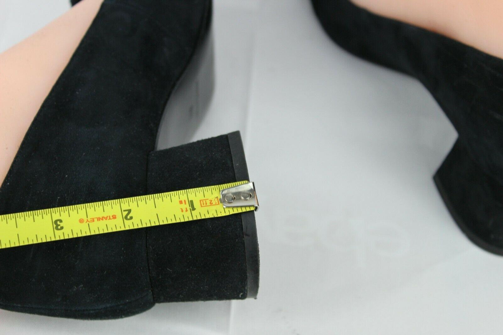 Nine West women's shoes loafer leather upper black medium heel size 9M