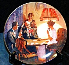 """1983 """"This is the Room that Light Made""""  by Norman Rockwell Plate with Box ( Kno"""