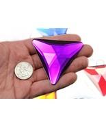68mm Purple Amethyst H105 Flat Back Triangle Acrylic Gems Pro Grade Indi... - $9.26