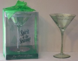 Santa Barbara Design SPIRIT OF THE SEASON christmas martini glass  NEW - $19.79