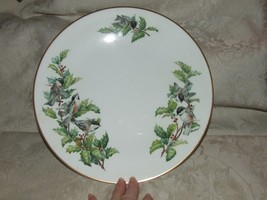 "1976+ BOEHM Chickadee and Holly 10 3/4"" DINNER Plate Contour Shape SCARCE - $75.00"