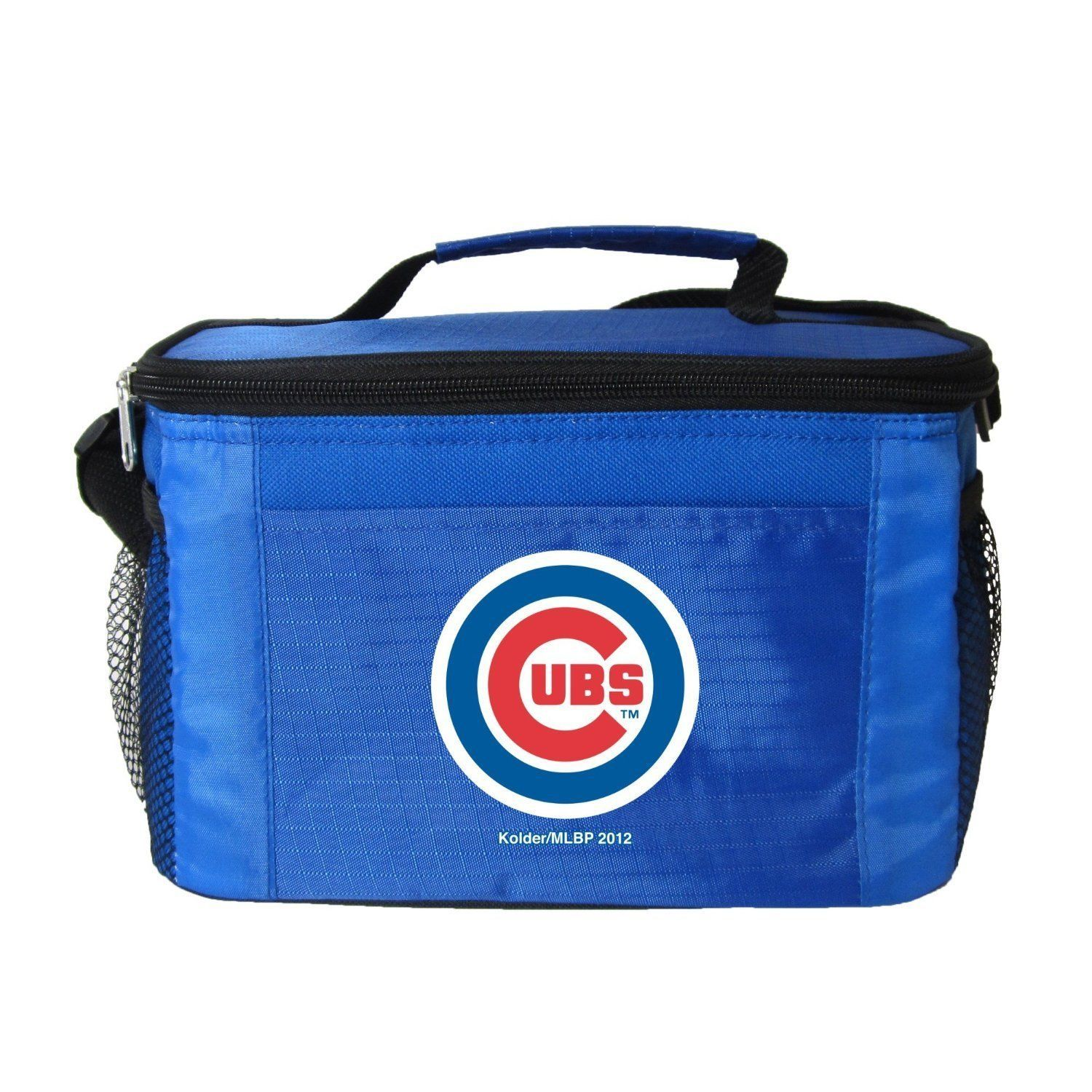 CHICAGO CUBS LUNCH TOTE 6 PK BEER SODA CAN TEAM LOGO KOOLER BAG MLB BASEBALL