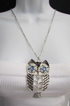 "New Women 17"" Long drop Fashion Necklace Big Silver / Gold Metal Owl Rhi... - $16.99"