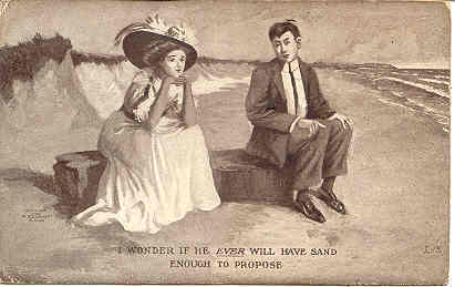 Primary image for Will He Ever Have The Sand Propose 1909 Post Card