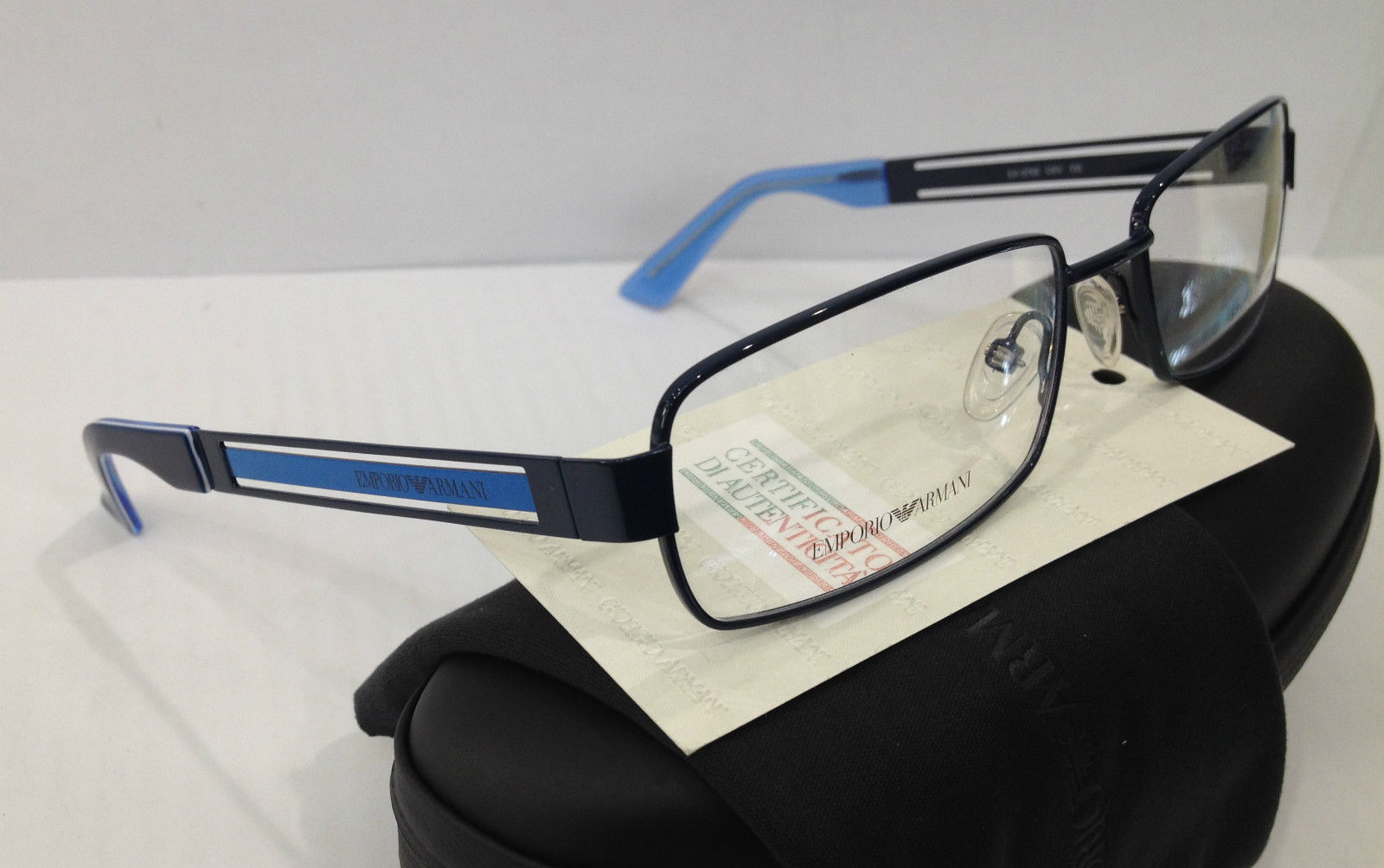 NEW EMPORIO ARMANI EA9768 COLOR O8V BLUE EYEGLASSES FRAME ...