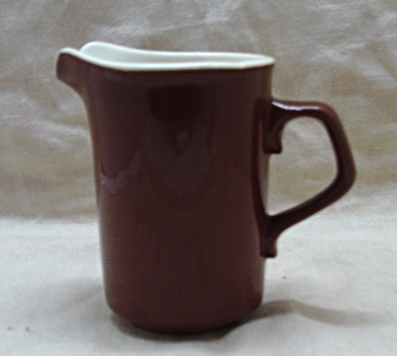 Vintage TS&T Brown & White Taylorstone Ironstone Creamer Pitcher/Replacement