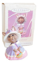 Hallmark Springtime Bonnets Series Easter Ornament Rabbit In Dress Pink ... - $4.95