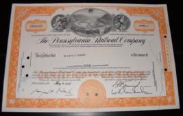 1966 Pennsylvania Railroad Company Stock Certificate - $12.00