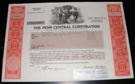 1983 Penn Central Corporation Stock Certificate - $12.00