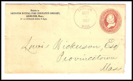 1887 Abington, MA Discontinued/Defunct Post Office (DPO) Postal Cover - $7.99
