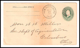 c1893 New Pittsburg, OH Discontinued/Defunct Post Office (DPO) Postal Cover - $7.99